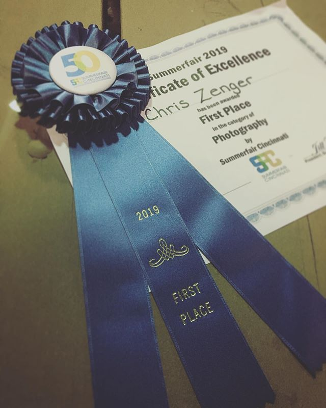 So psyched and honored to get 1st place in photography at SUMMERFAIR here in Cincinnati!