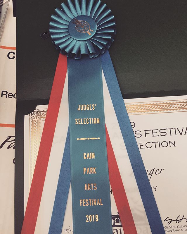 Psyched to get a Judge's Selection Award. Thank you so much #cainparkartsfestival #artsfest42