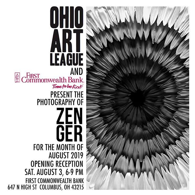 Solo exhibition! For the month of August at First Commonwealth Bank in the Short North Arts District of Columbus. Opening reception is  during Gallery Hop - Saturday, August 3, 6-9pm