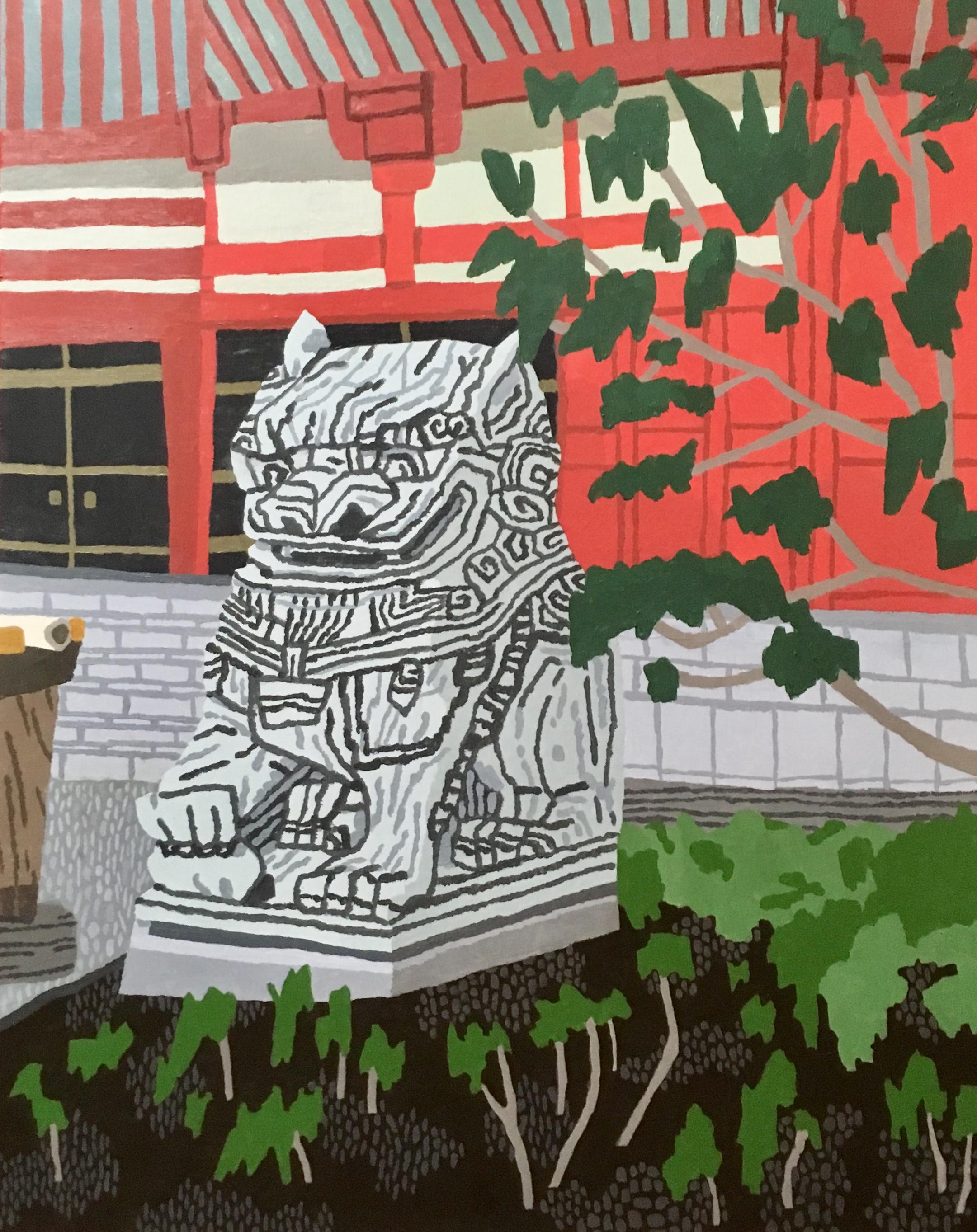 Fu dog in Asakusa I