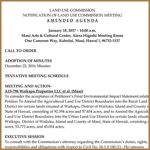 LUC Amended Agenda - January 18, 2017