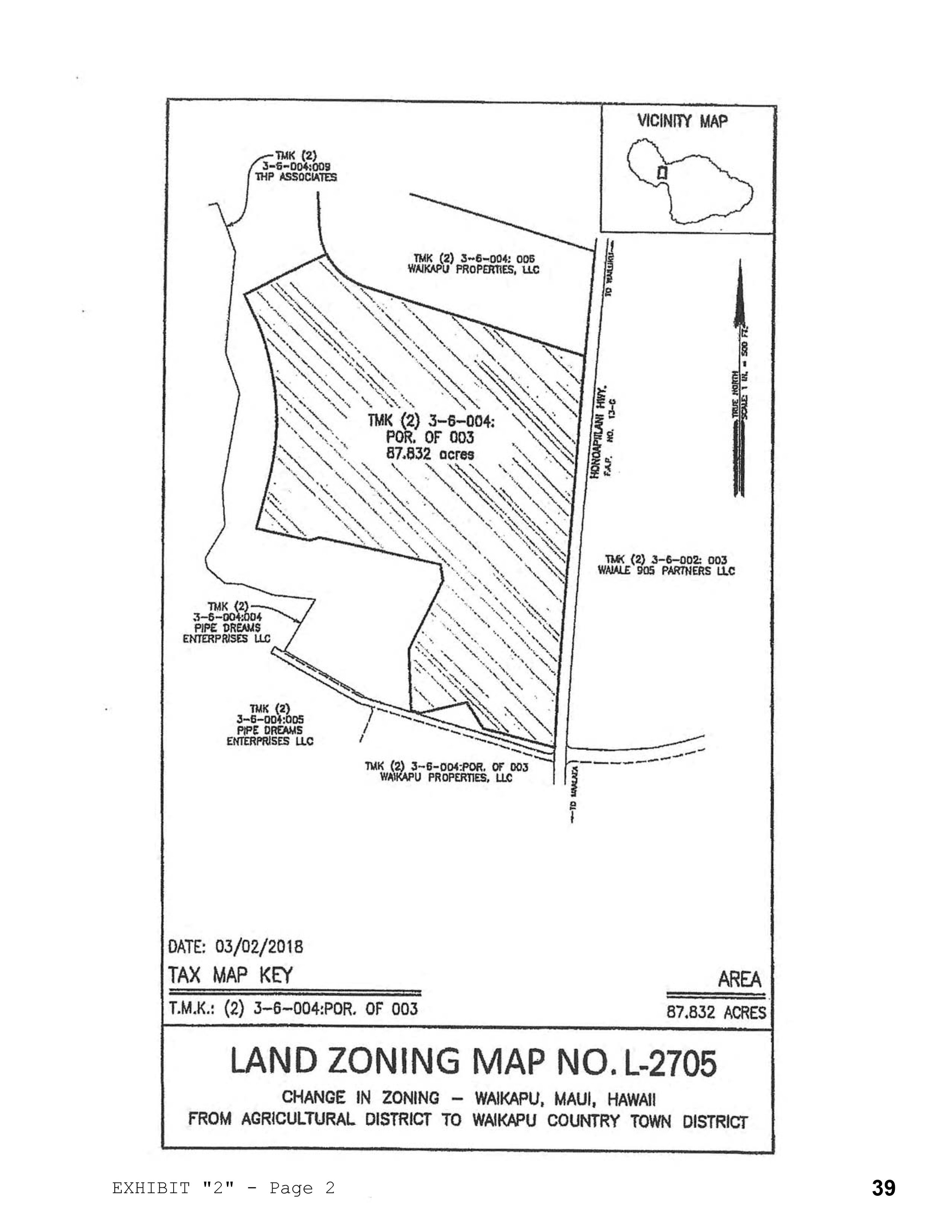 Land Zoning Map - August 2019