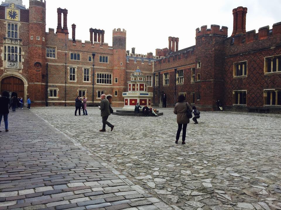 Inside the courtyard of Hampton Palace