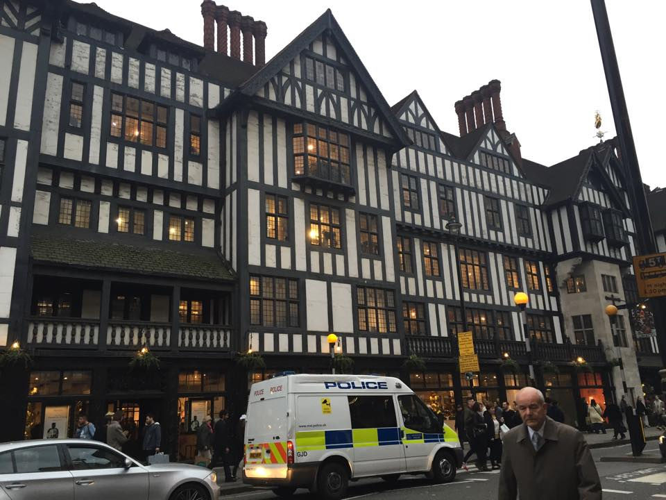 Liberty Department store, where some amazing and slight damage was done to my wallet