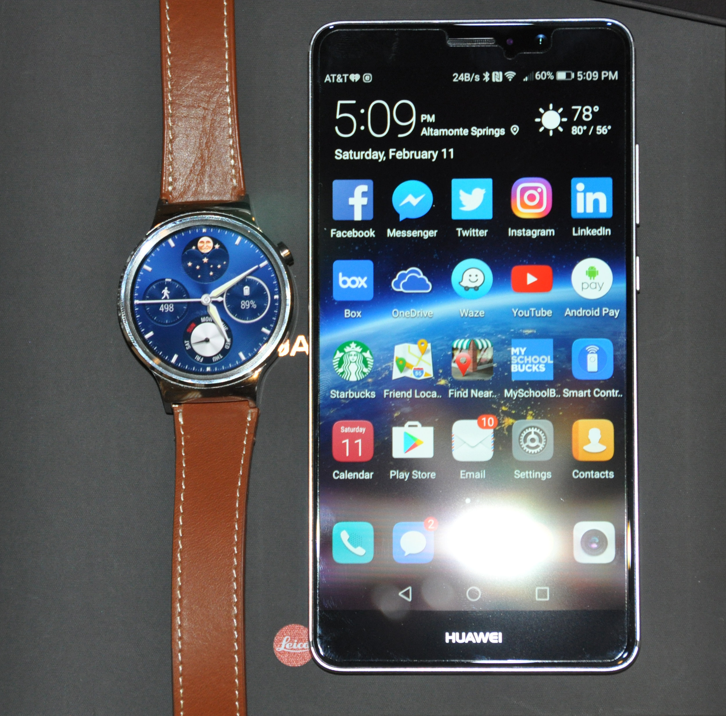 Huawei Mate 9 and Huawei Watch