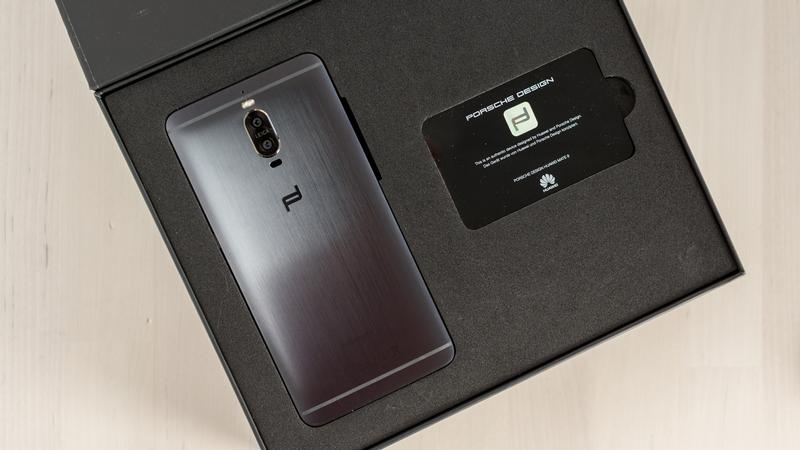 Huawei Mate 9 Porsche Design Rear View in box with VIP Card