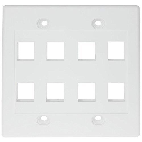 RiteAV - Keystone Wall Plate Double Gang 8