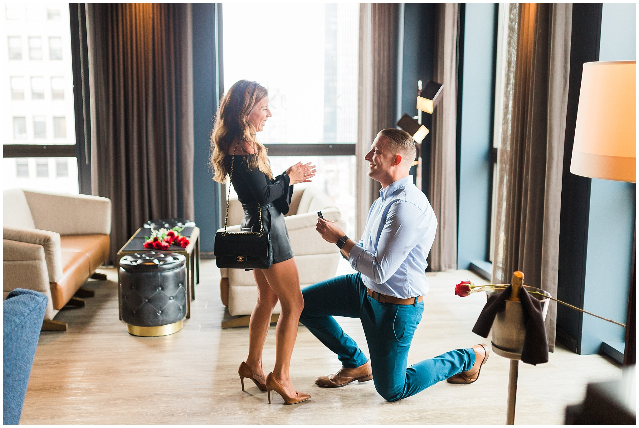 03. This romantic af proposal at the Skylark. - Victoria and Dan — The Skylark New York
