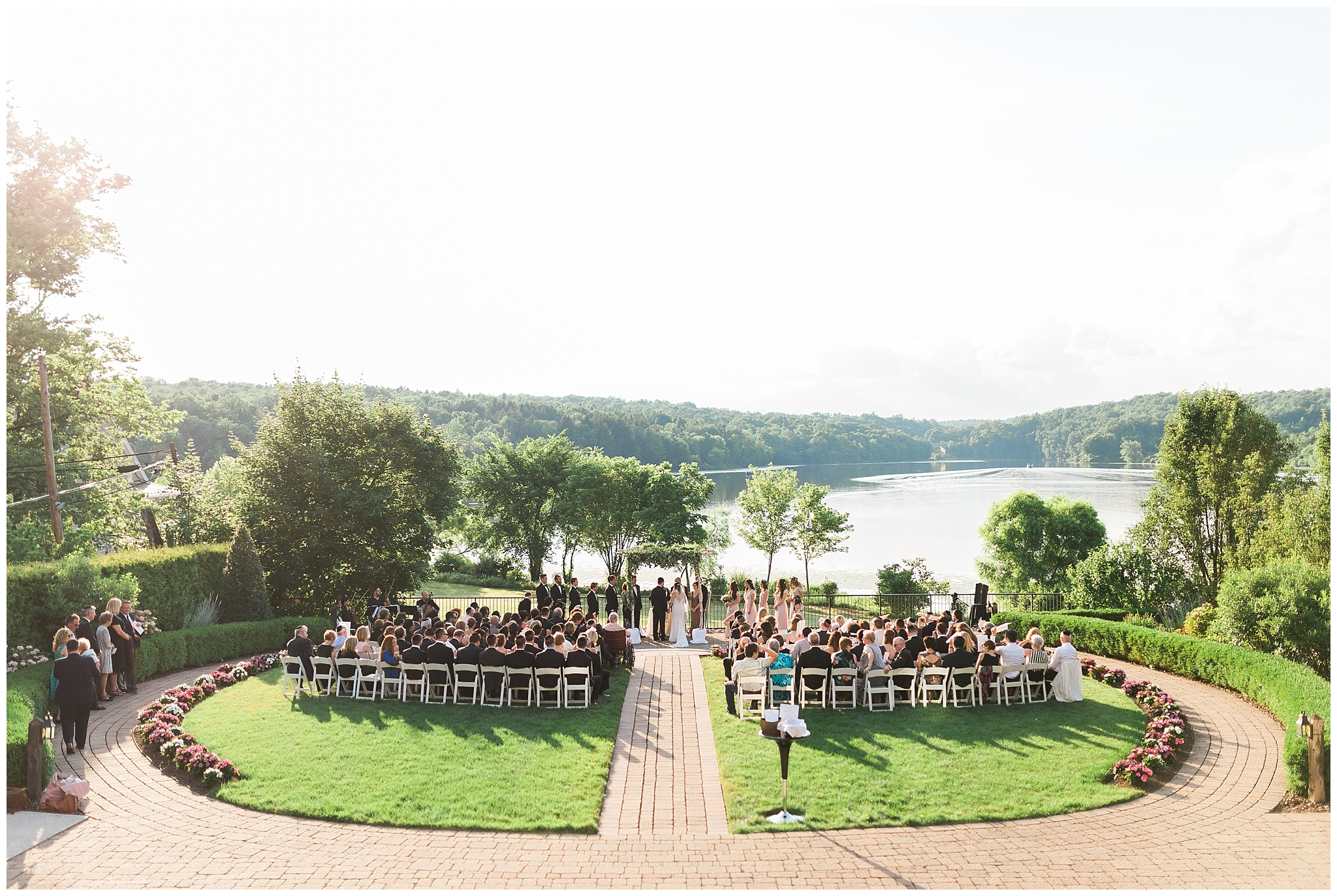 04. The most beautiful sunset ceremony there ever was. - Julia and Israel — The Lake House Inn
