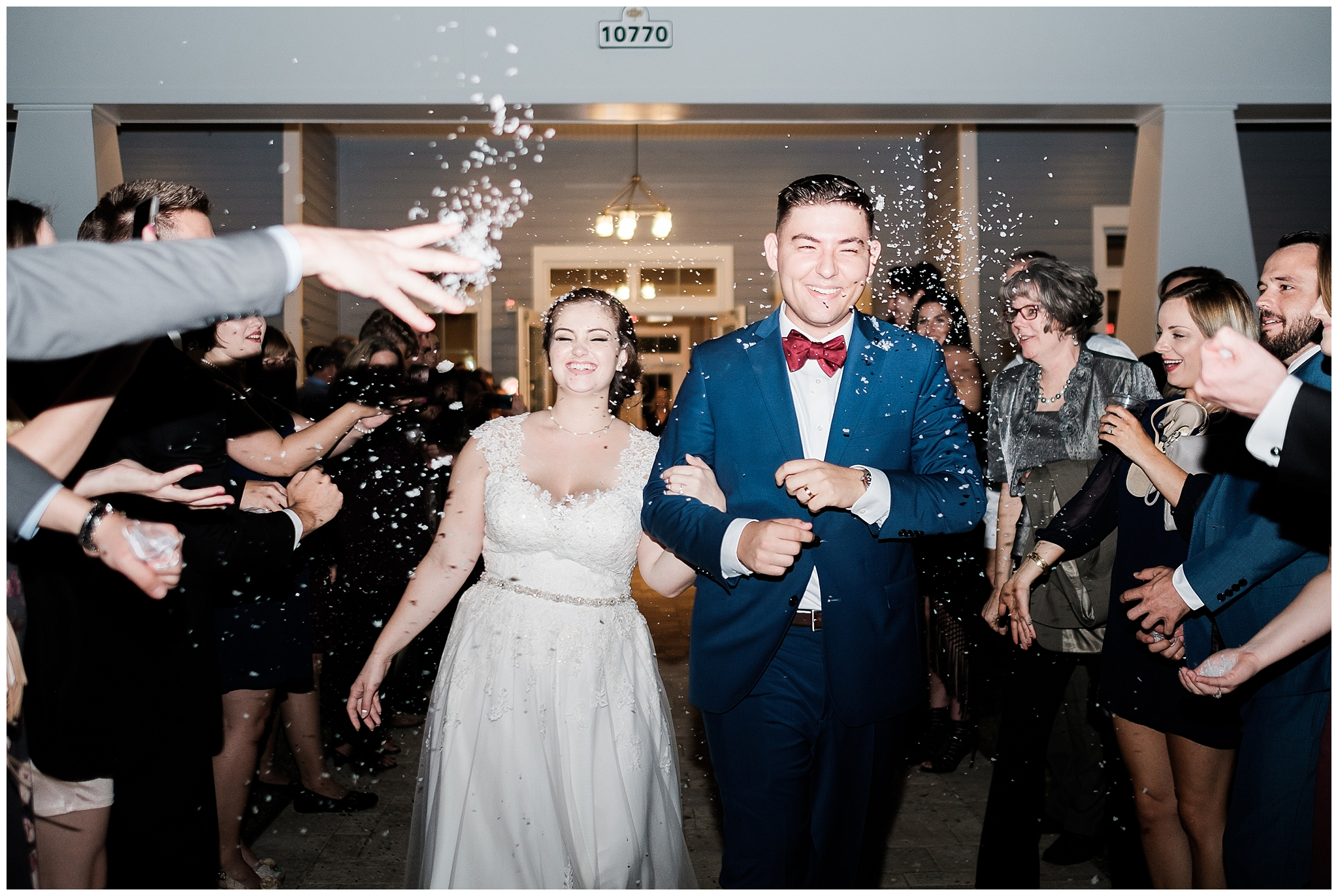 10. This (blinding) biodegradeable confetti exit. - Will and Renee — Grand Oaks Manor