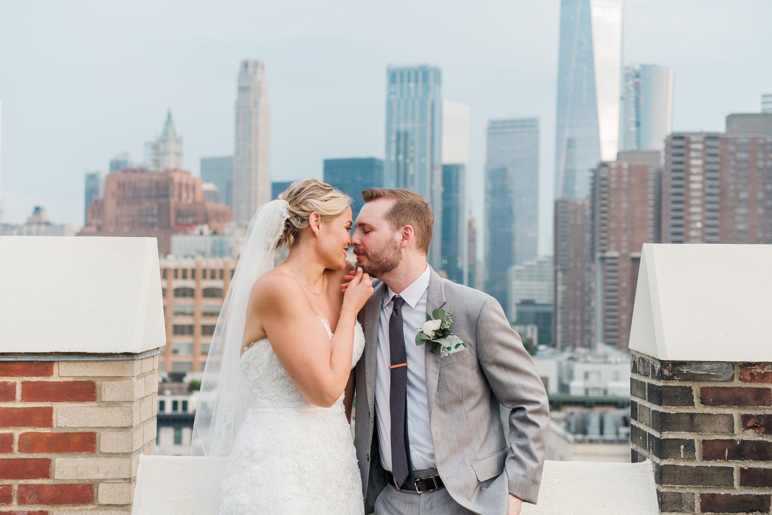 KATELYN + BEN  Tribeca Rooftop Wedding