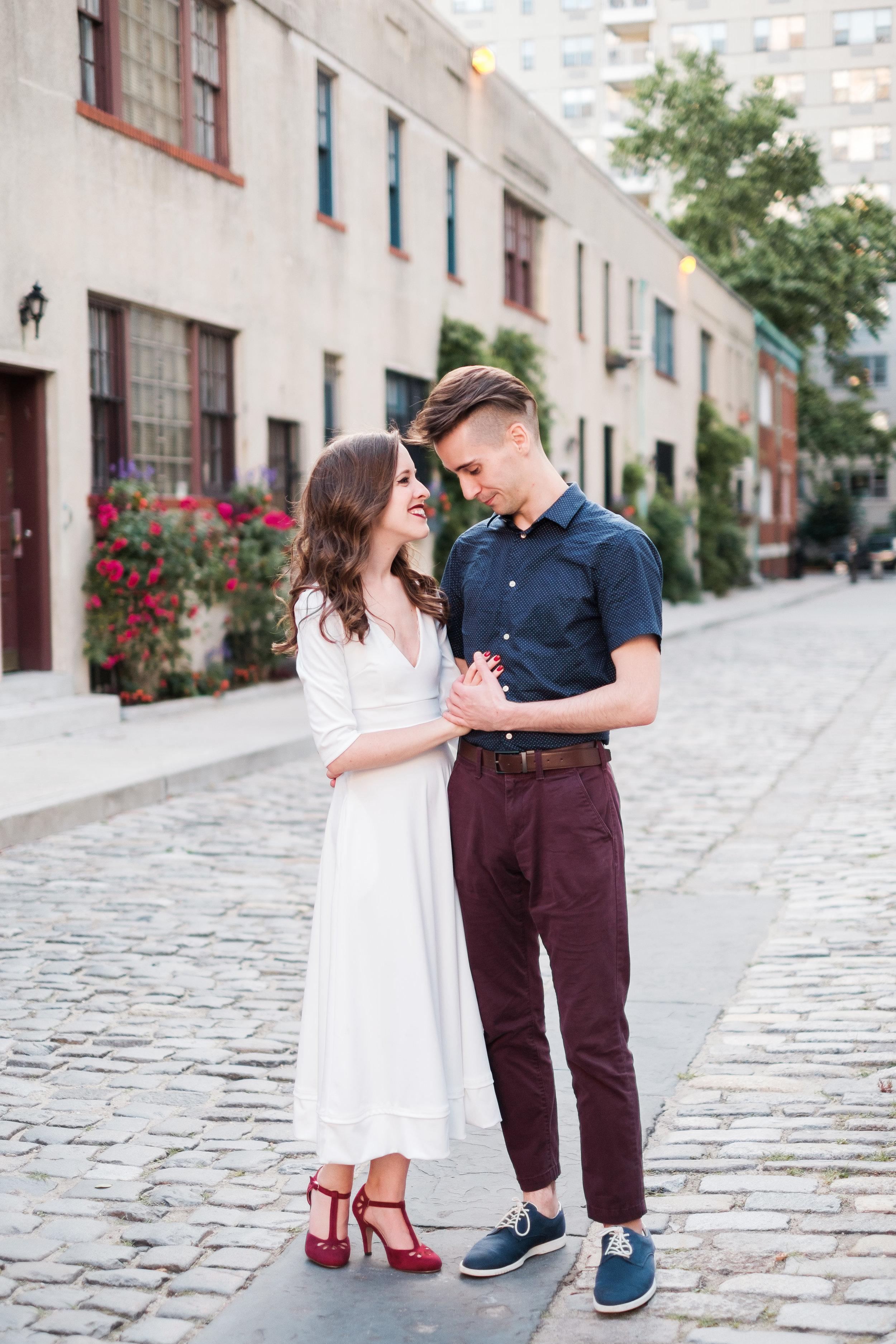 MICHAEL + ANNIE  Washington Square Park Engagement