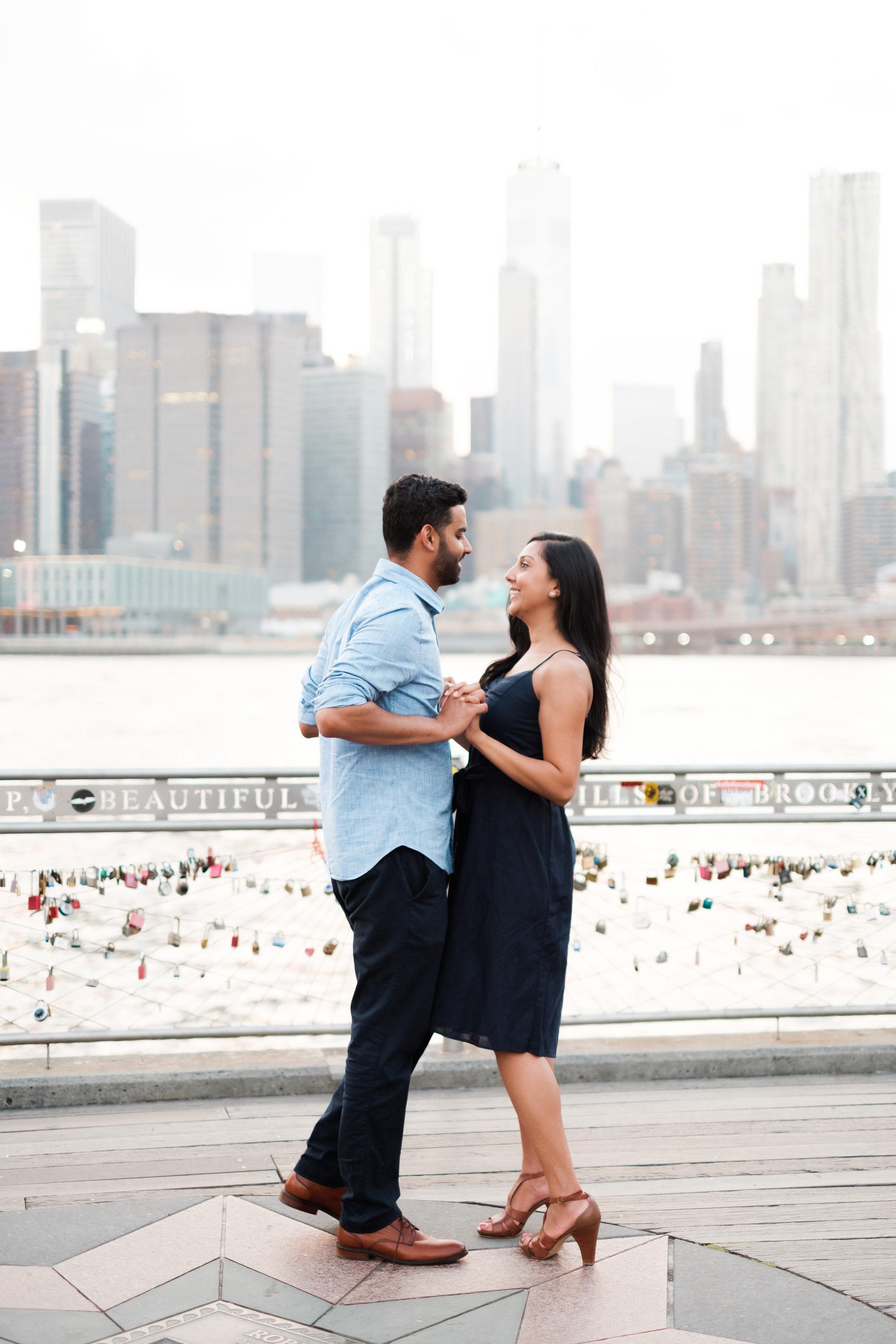 ANU + ARUN  Greenwich Village Engagement