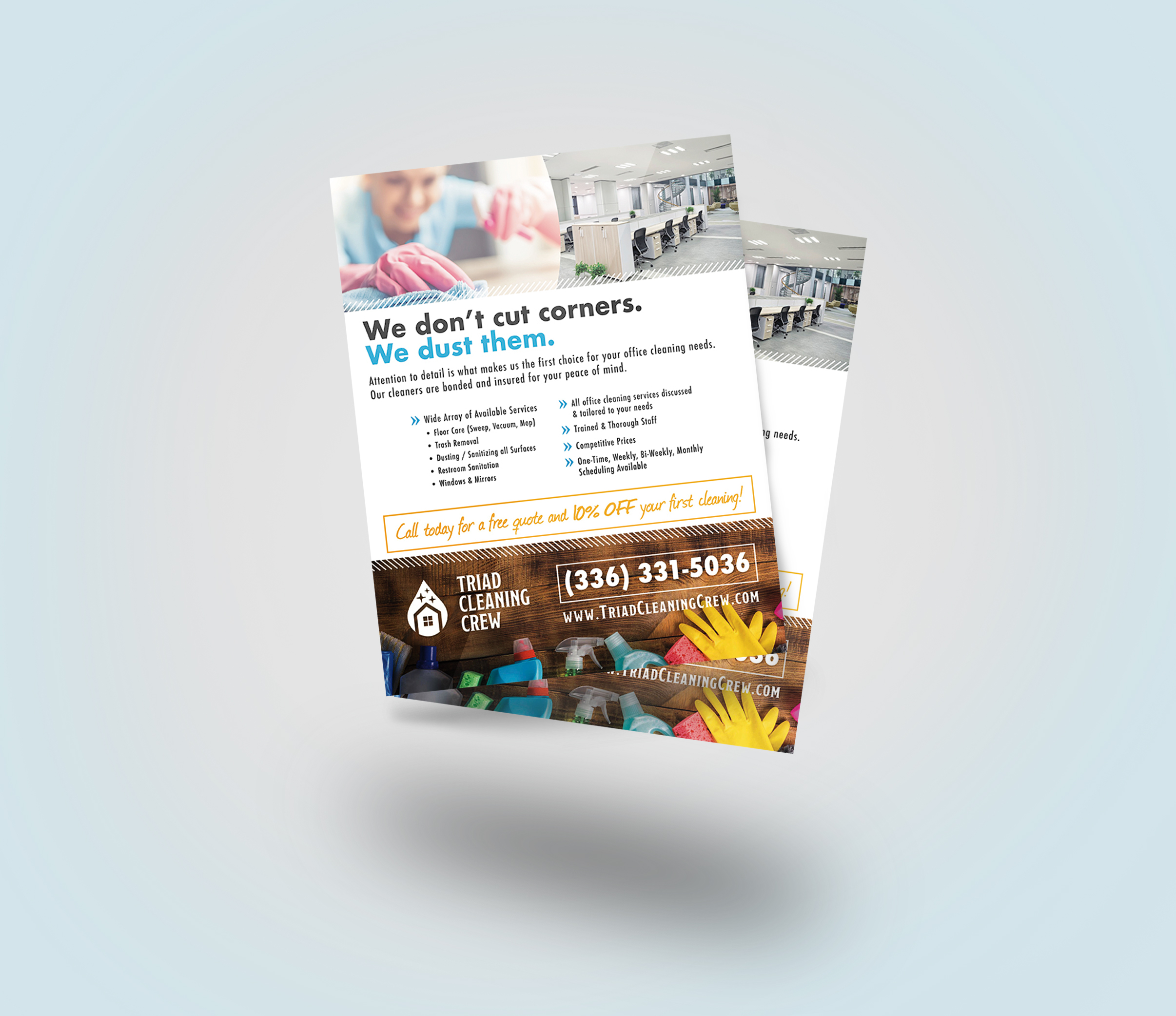 Triad Cleaning Crew Flyer Design -