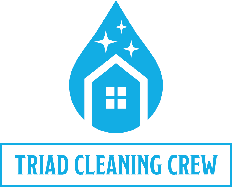 Triad Cleaning Crew Logo Design - Vertical Treatment