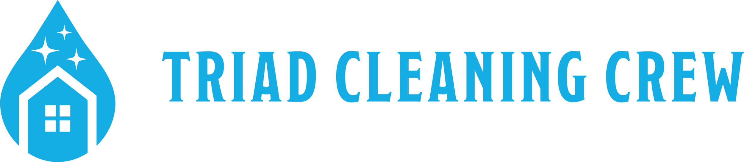 Triad Cleaning Crew Logo Design (Horizontal Treatment)