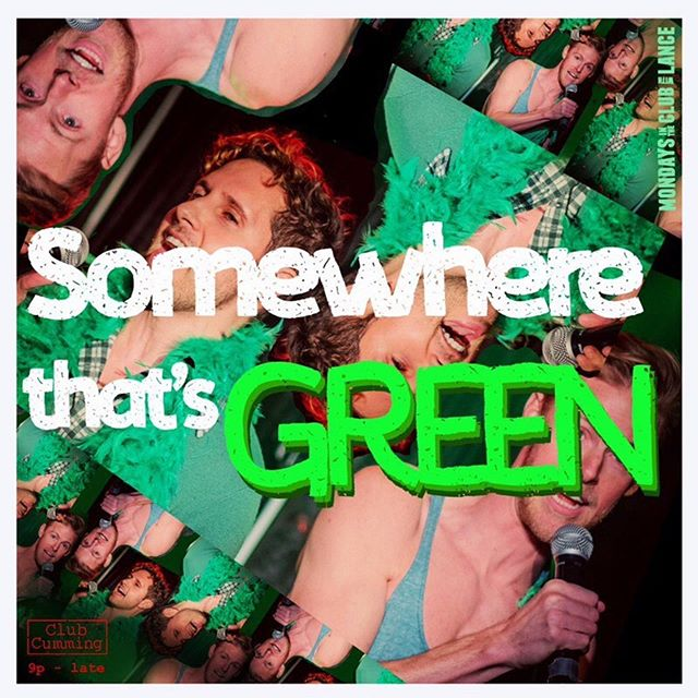 This week, we celebrate #green From @reeferthemusical to @littleshopnyc , those pesky-leafed weed-leads give our ingenues vert-igo! From 9 to 4, @lance_horne will be on keys, so transplant yourself to #somewherethatsgreen ! We'll have some folks on hand who are helping with the greenification of New York, and start the spooky season right, with puffs of smoke! Art as always by @claybythebay Photo @austinyourface Cohost in Hunter-green @huntercanning Come celebrate all the Monday Shades of Green as we paint by numbers @mondaysintheclub @clubcumming !