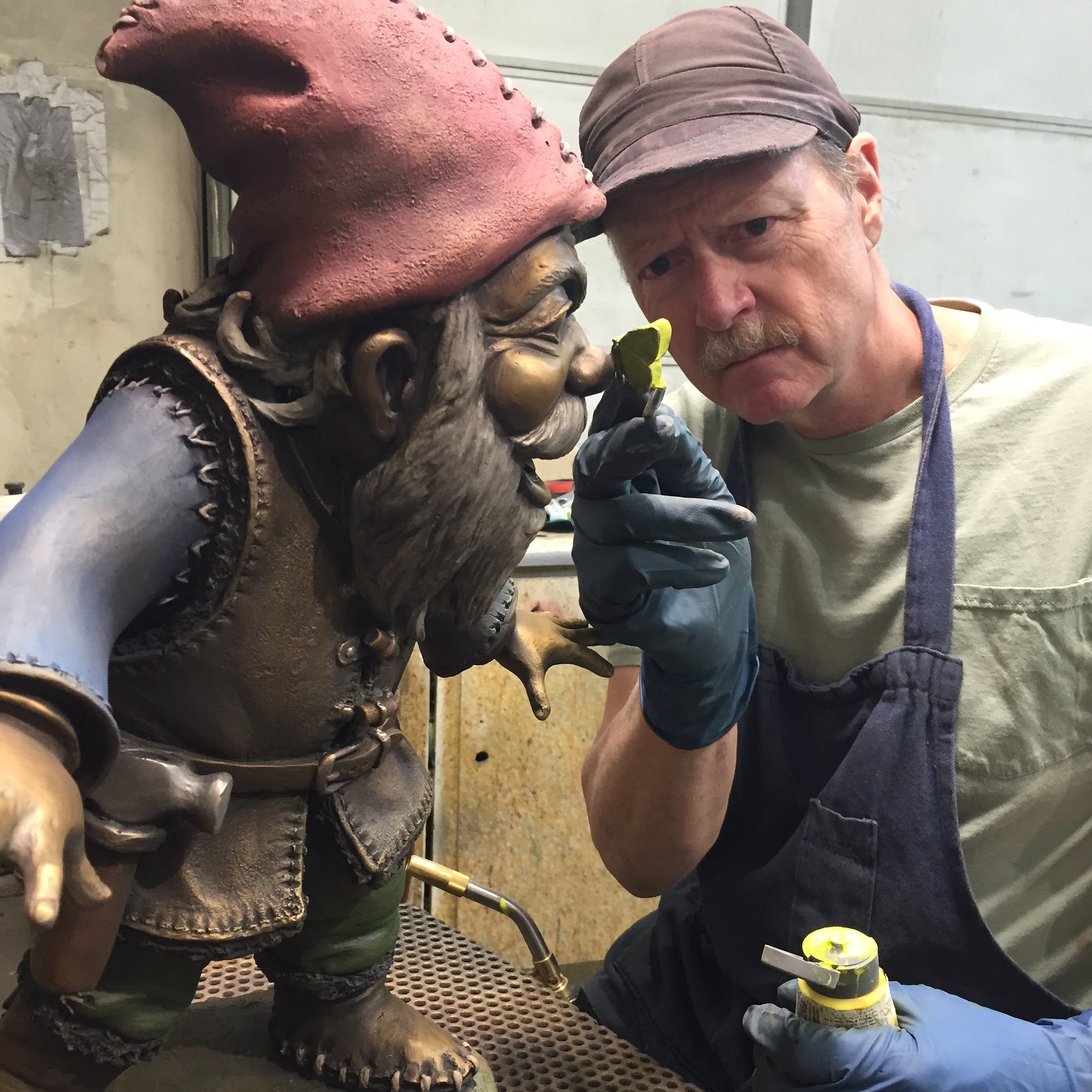 Patina artist Rob Hough at Bronze Services of Loveland