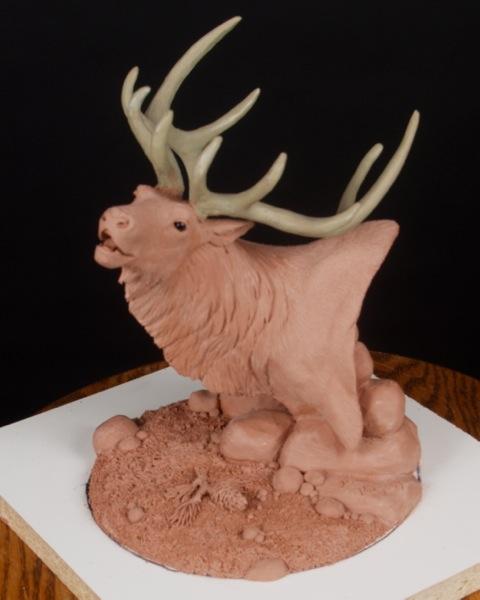 Elk Bust Lamp