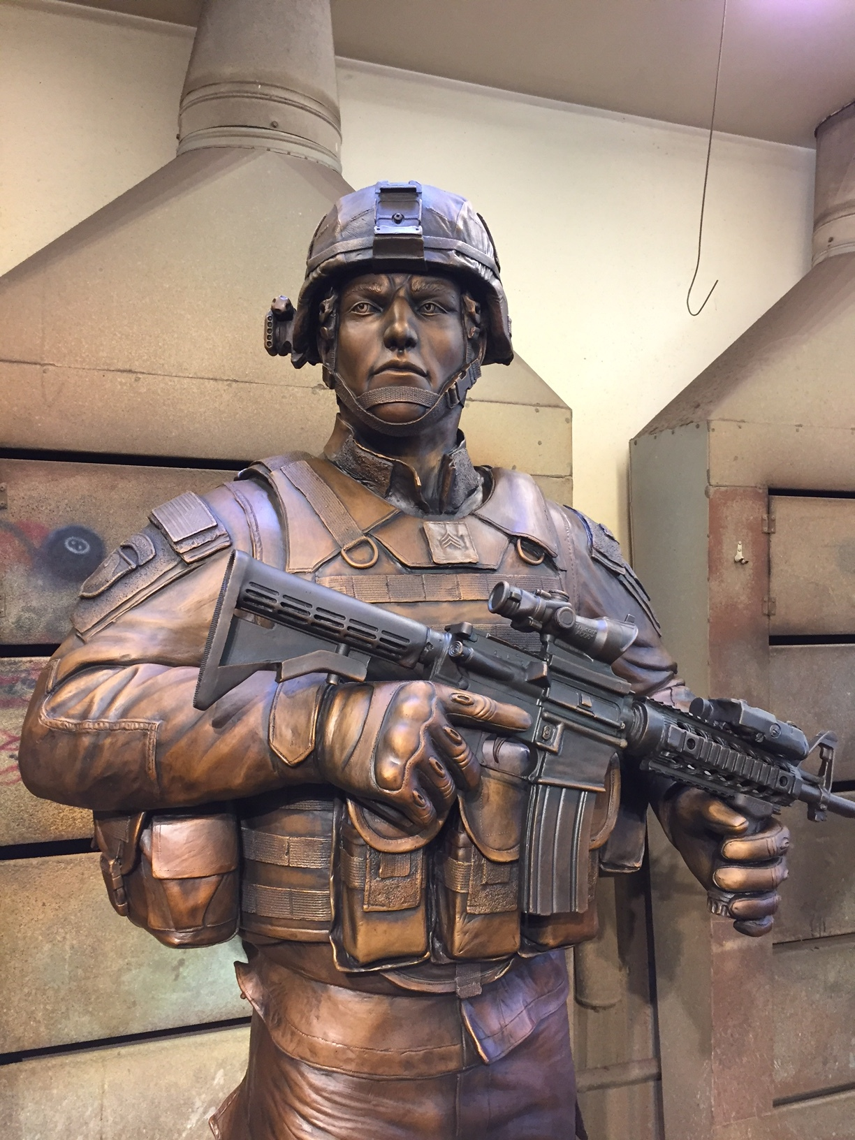 """""""An American Soldier"""" (Detail)"""