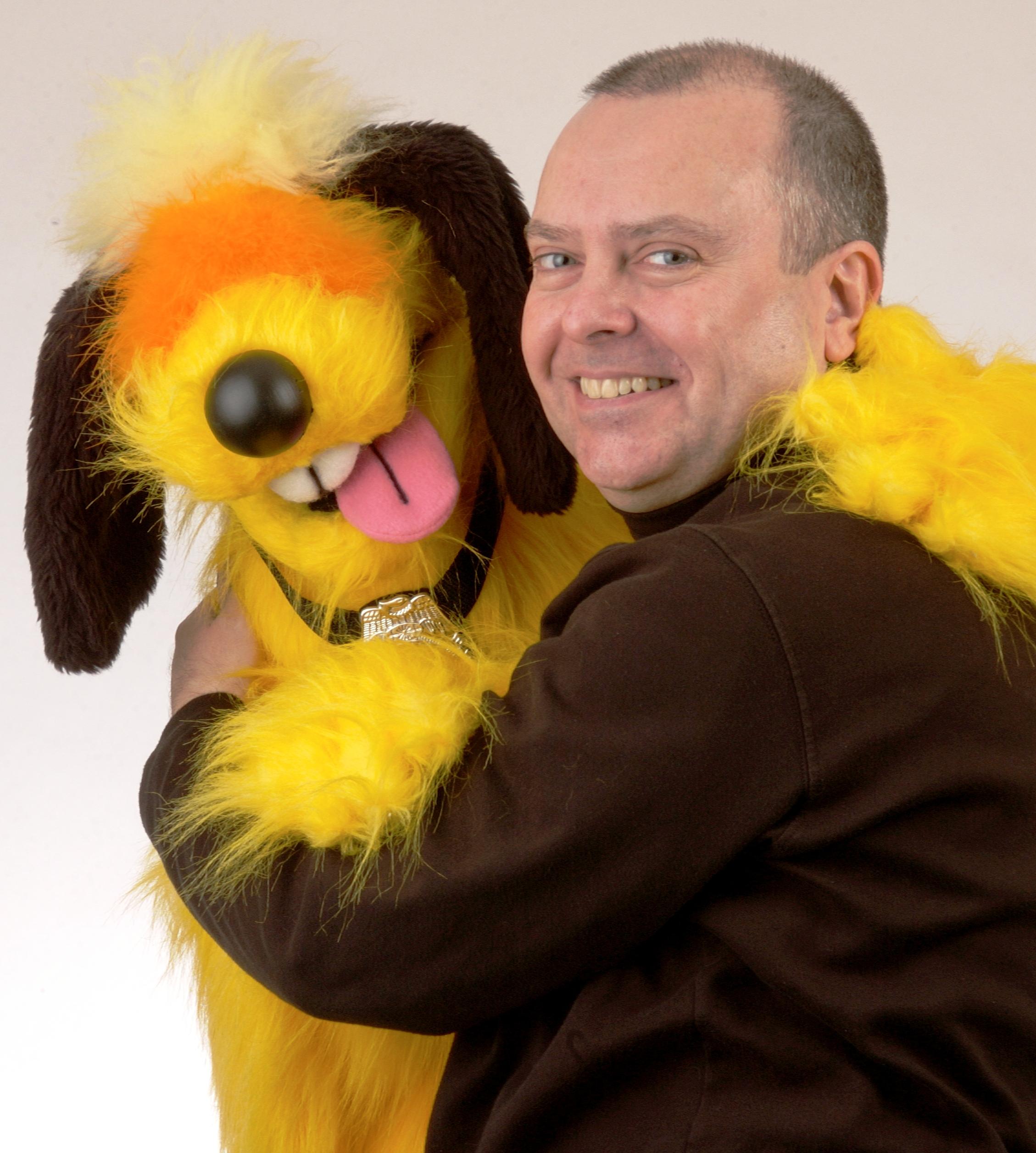 "Wayne Martin Puppets ""Buford T. Dog"" with Wayne"