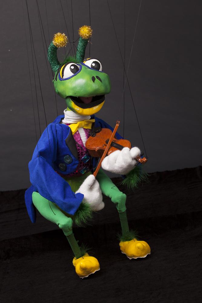 """Wayne Martin Puppets """"Grasshopper Fiddle Player"""""""