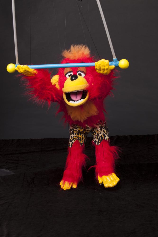 "Wayne Martin Puppets ""Rocky Monkey on his Trapeze"""