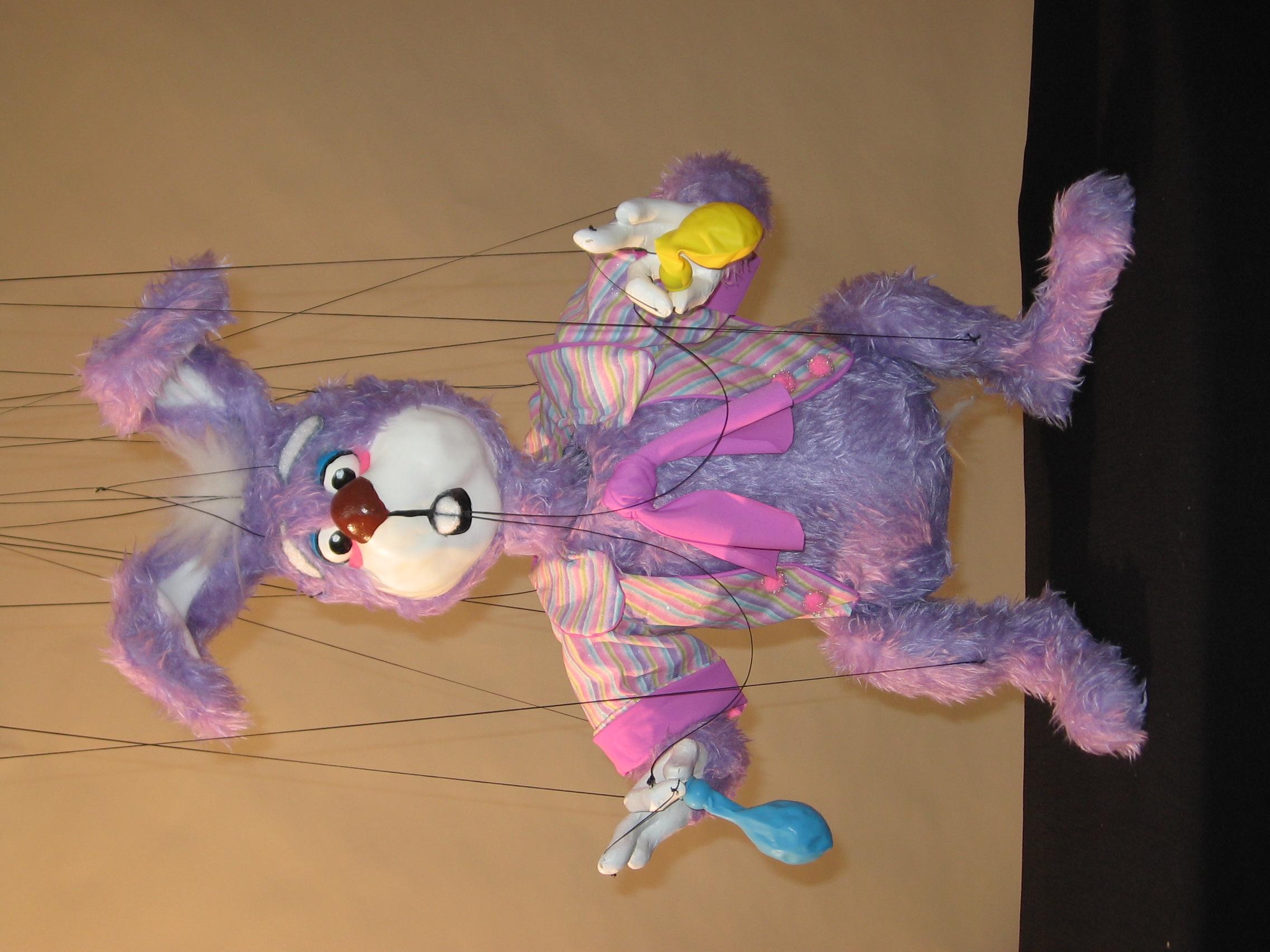 "Wayne Martin Puppets ""Scatterbrain the Balloon-Blowing Rabbit"""