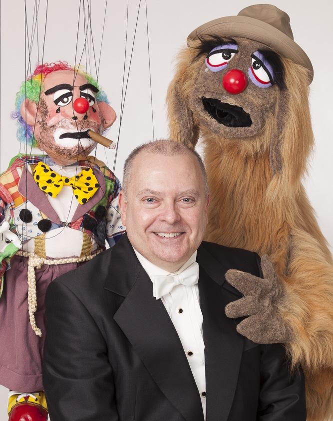 "Wayne Martin Puppets ""Dicky the Clown & Leonard Booze Hound"" with Wayne"