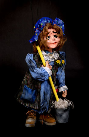 """Wayne Martin Puppets """"Sherie the Wash Lady"""""""