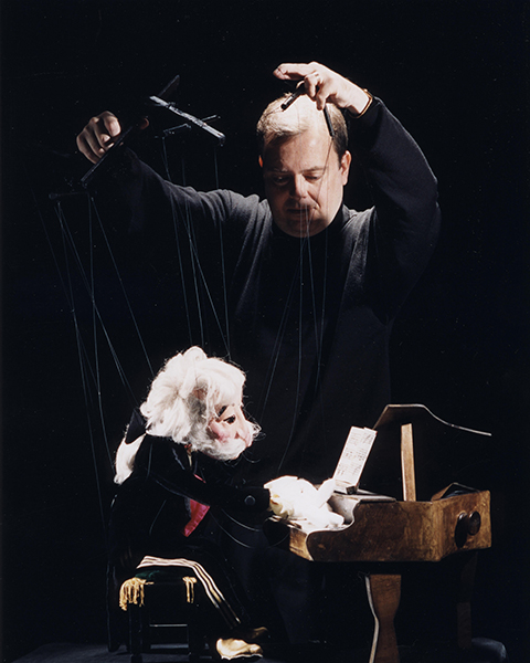Sir Reginald Handbag The Pianist - created by Wayne Martin