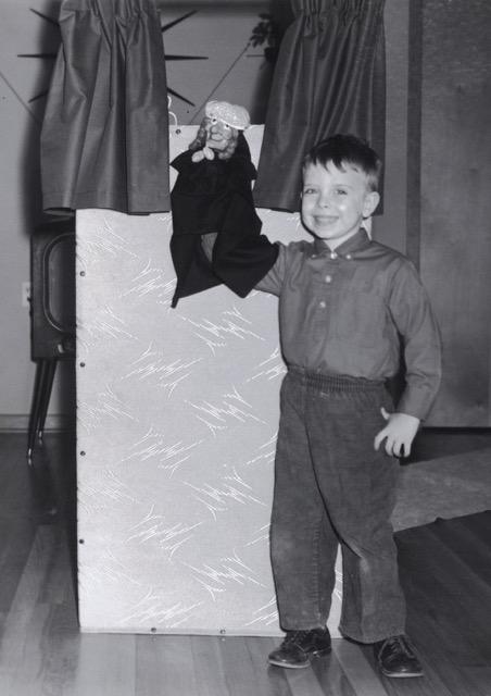 4 year old puppeteer Wayne Martin