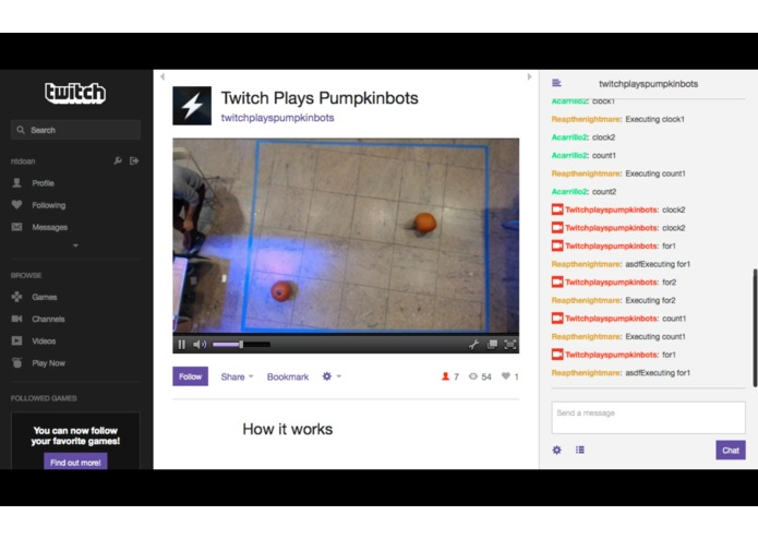 Stream of the competition + twitch controls