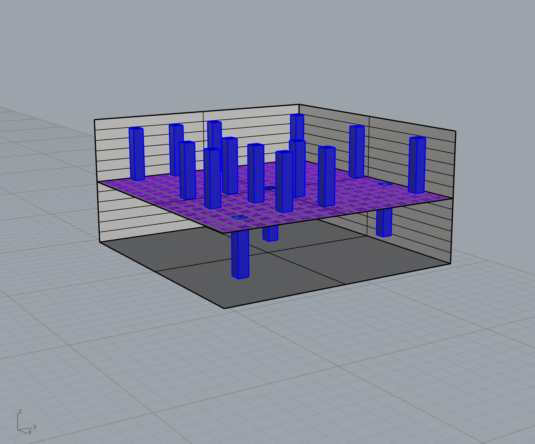 3D model of cityscape diagram for UX prototype