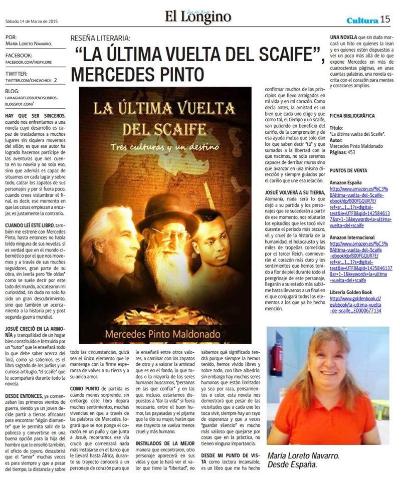 Entrevista a Mercedes Pinto Maldonado en El Longino