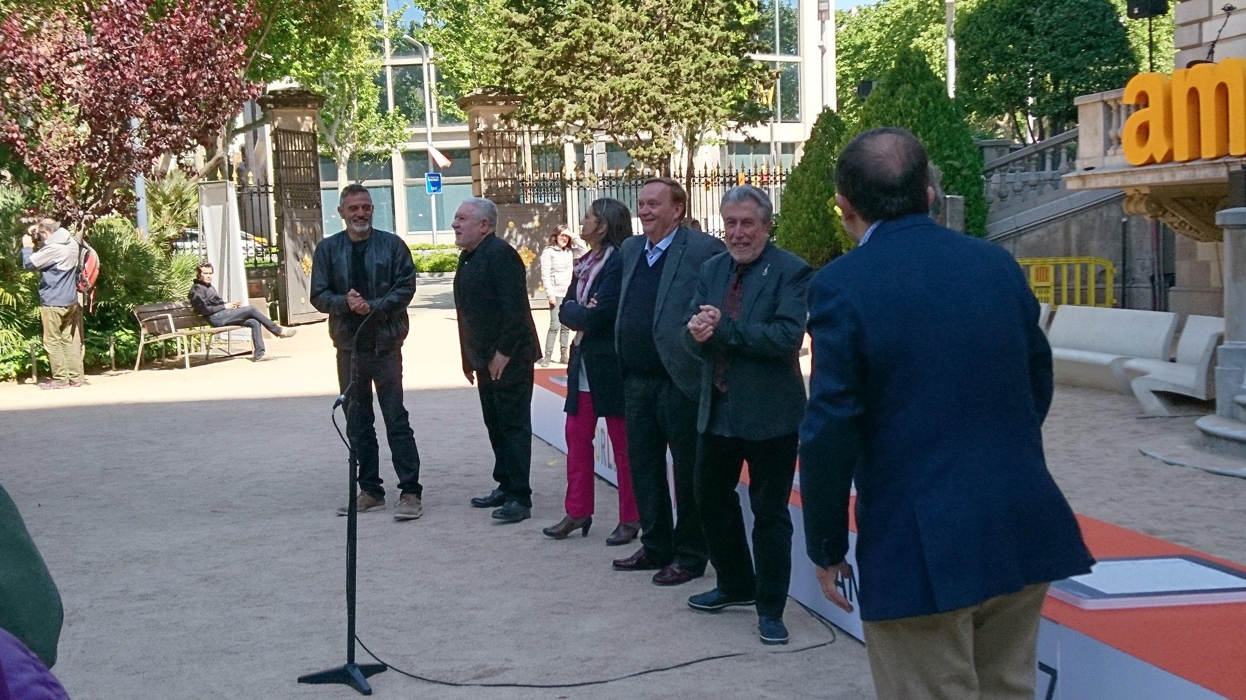 Paseo de la Fama de la literatura Sant Jordi 2017