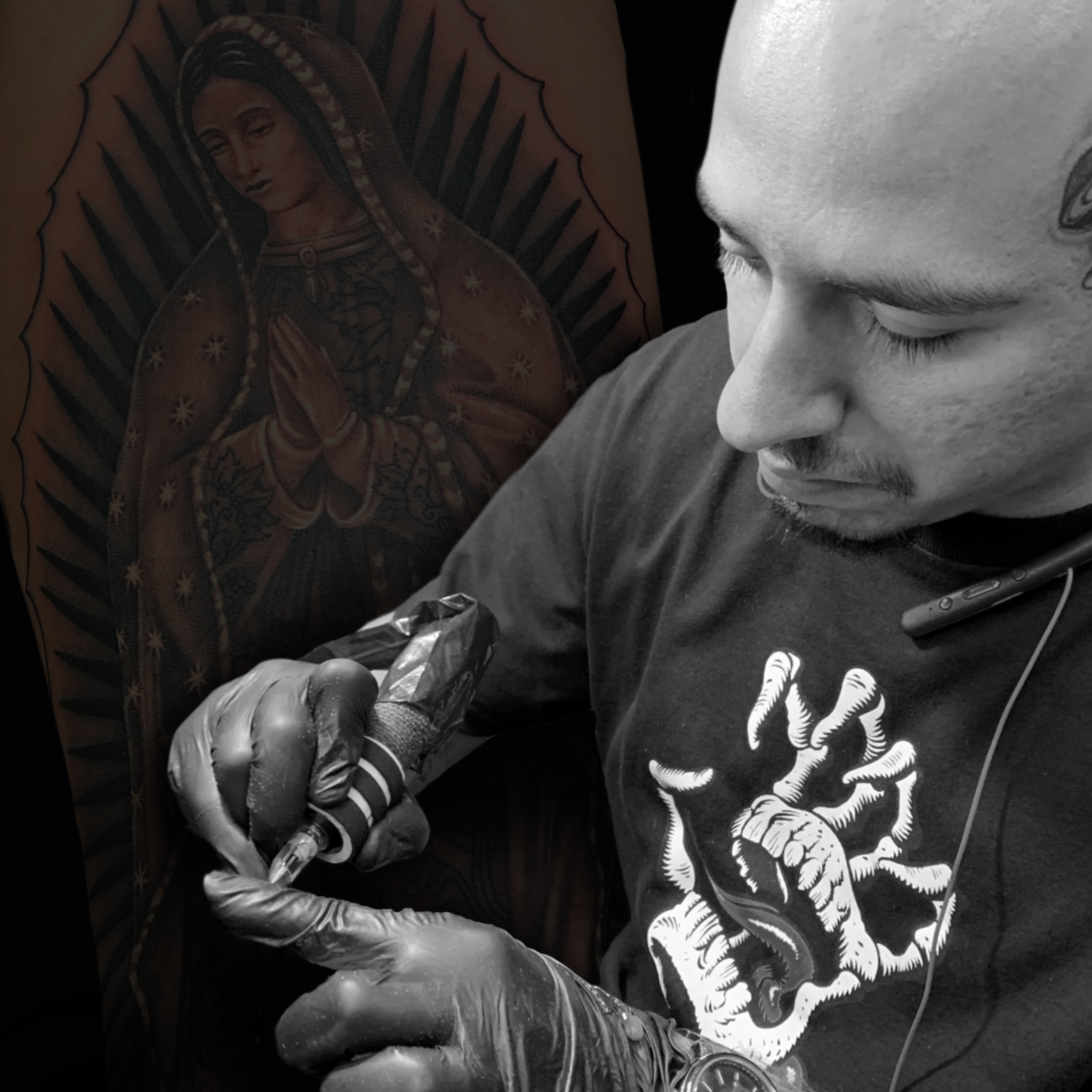 Paco Montes   - Tattoo Artist   Specializing in Realistic Black & Grey