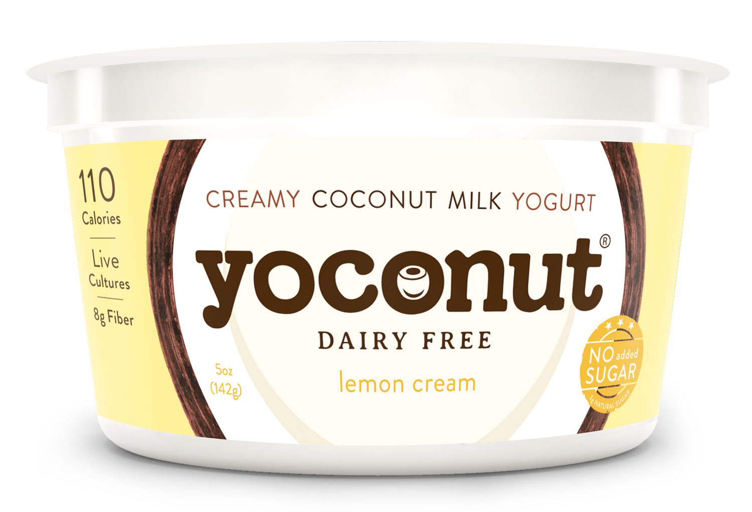 coconut yogurt - lemon coconut yogurt - no added sugar yogurt