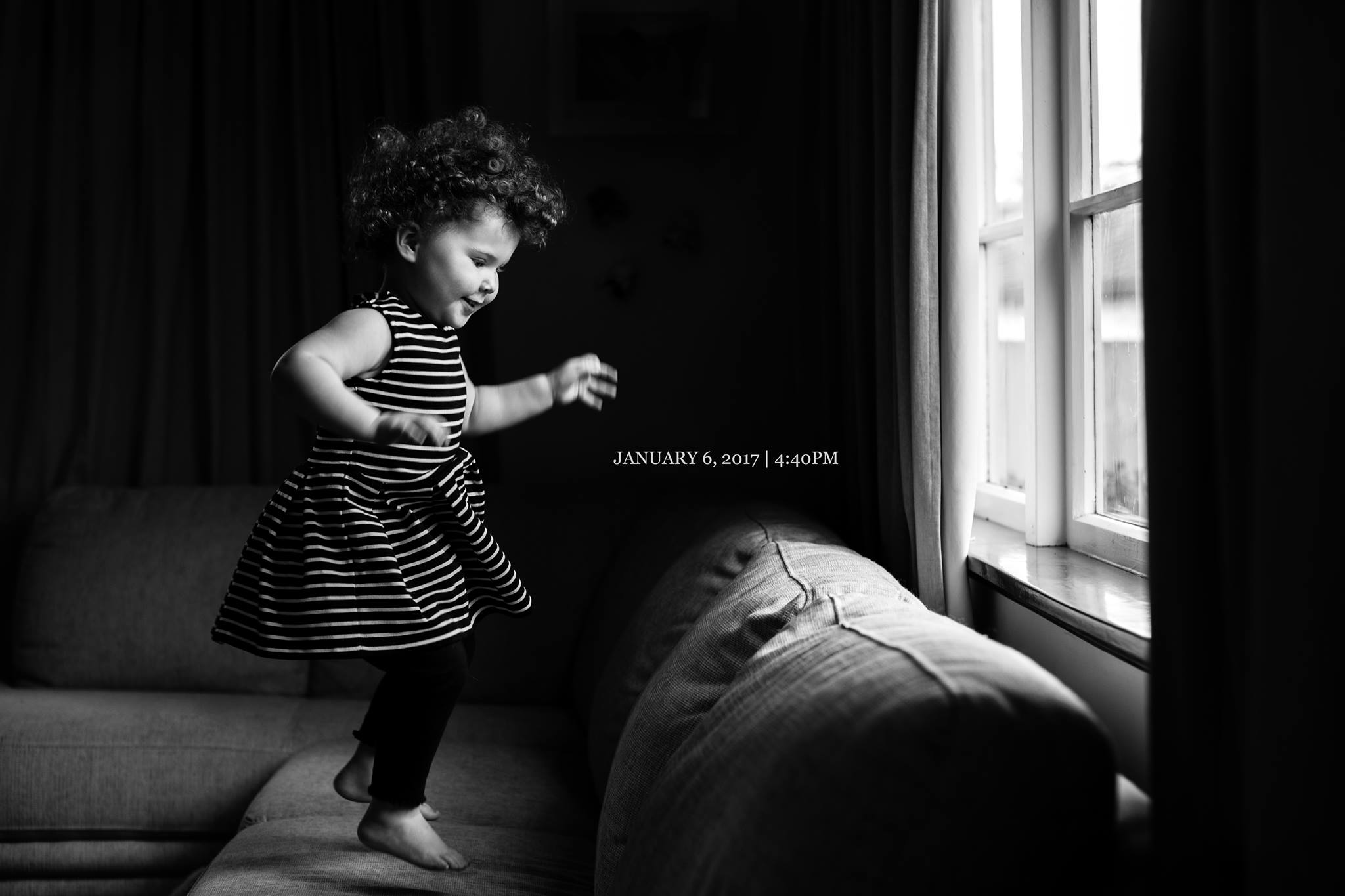 DAY SIX   Welcoming this storm with a jump/dance routine. Toddlers are so hilarious.