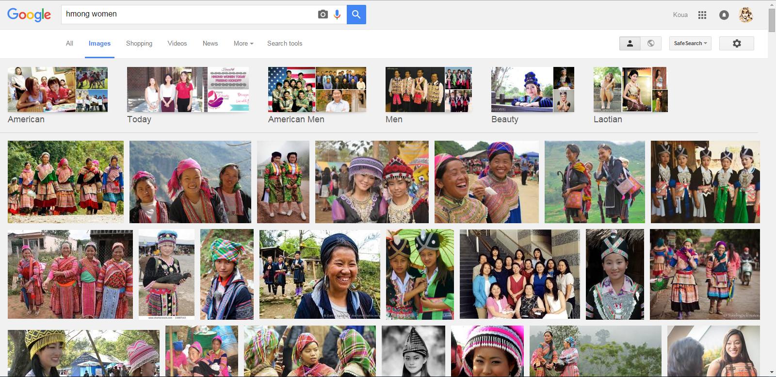 Googling Hmong Women