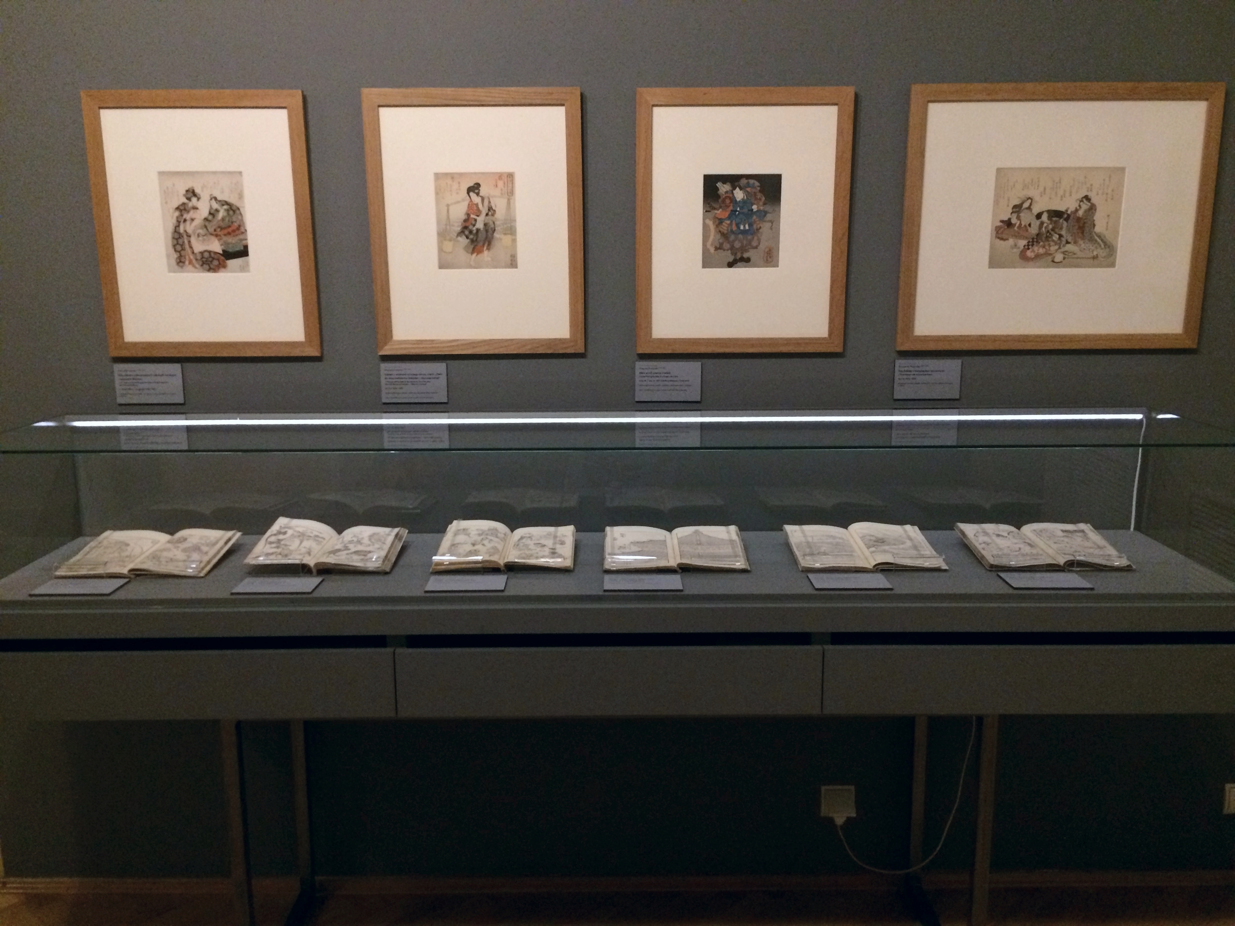 Jasienski's collection of of mangas all hand made, wood block prints. I was very shocked (in a good way) to see such an interesting collection books.   Seeing these works made me think about traditional art making process that are very old and yet prevalent in Japanese comics today.
