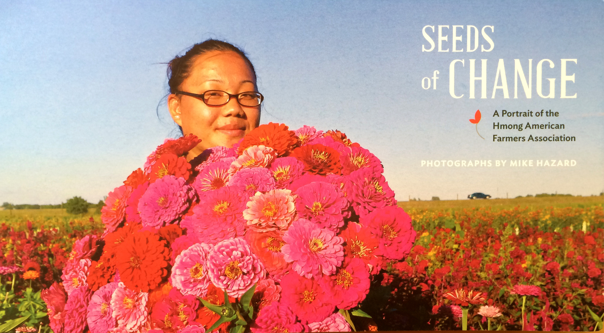 Promotional flyer for Seeds of Change Photography by Mike Hazard.