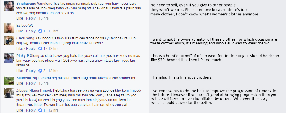 Translated into English with my limited hmong language knowledge, may not be the most accurate.