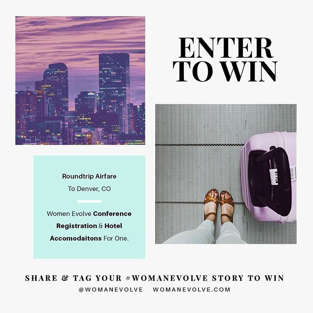 Ladies, we 💜 to hear from you! We get so inspired when we hear about how YOU are evolving - day to day, week to week. Share a pic of your choice & tag your #womanevolve story so we can enter YOU to win our brand new give away - a round trip to JOIN US in July at our Woman Evolve Conference! Airfare, hotel, and registration - we got you!!Let's share with one another and have FUN as we #evolve together.