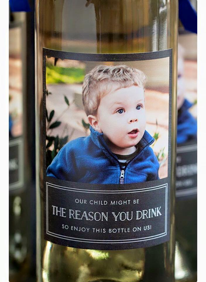 Fun & feisty custom label with image.