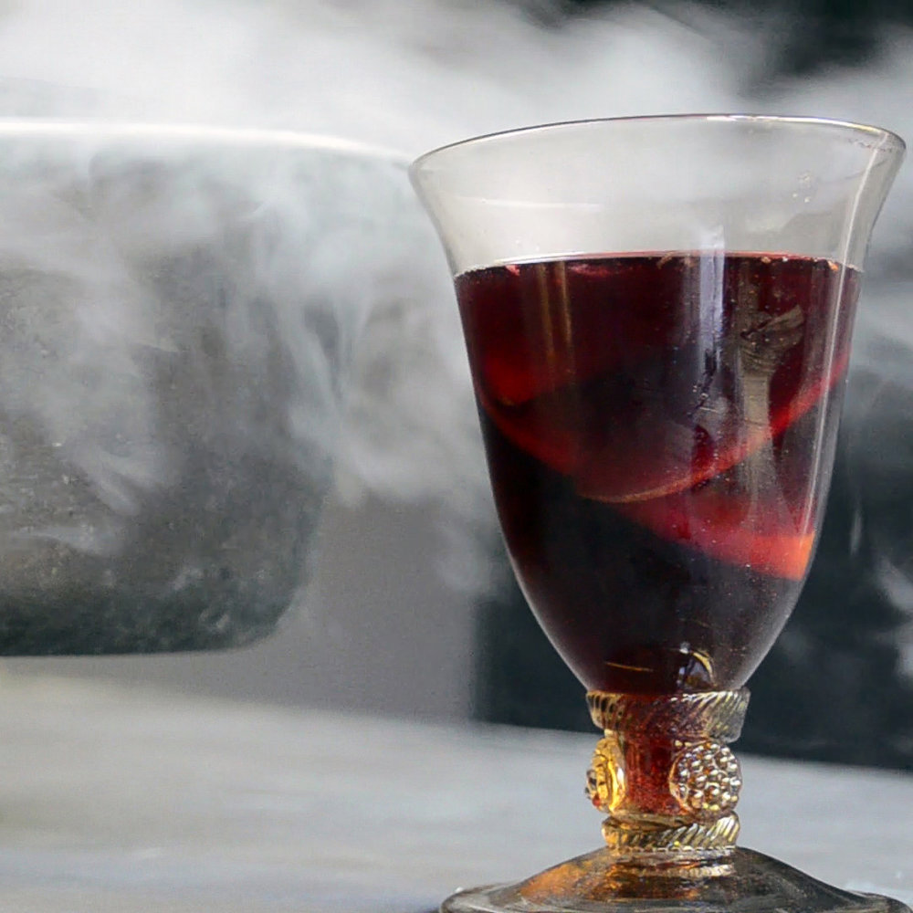 What You'll Need - 1 750 mL of Red Wine*1 orange (cut into wedges)1 lemon (cut into wedges)1/4 cup sugar2 cups ginger ale (or club soda)Dash of grenadine (optional, for darker