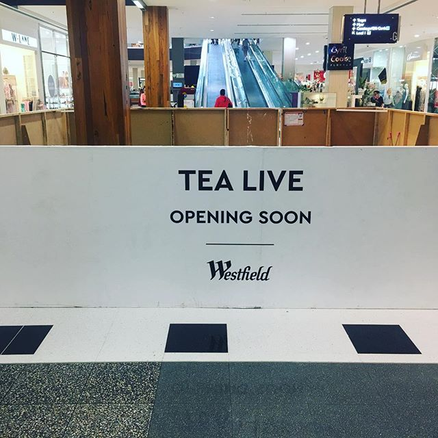 Tea Live Geelong Westfield Fit Out starting soon #fitout #fitoutinteriors #construction #westfield #geelong #madok #tea #tealive