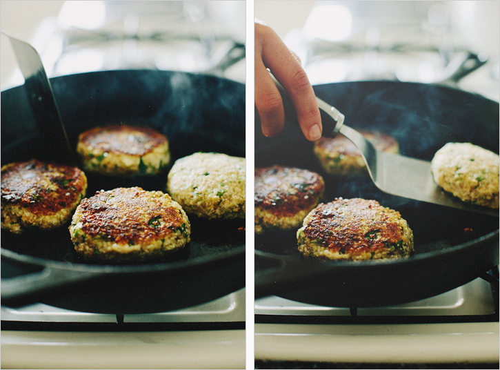 pquinoa cauliflower patties . sprouted kitchen
