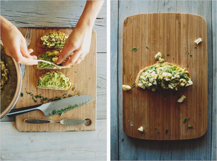 Avocado Tartine with Girbiche Egg Salad . sprouted kitchen