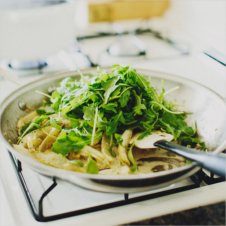 pasta with fennel, arugula & lemon . sprouted kitchen
